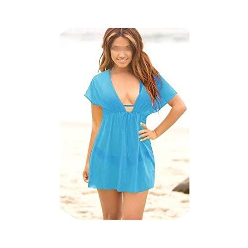 (two- Beach Swimsuit Cover Up Summer Autumn Dress Swimwear Women Kaftan Beach Towel Sheer Swim Suit Dress,As Photo shows4,One Size)