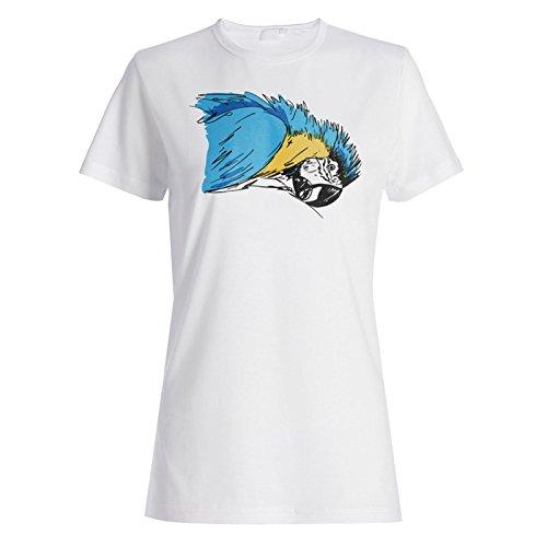 Arte Del Loro Del Macaw Del Pájaro camiseta de las mujeres o149f