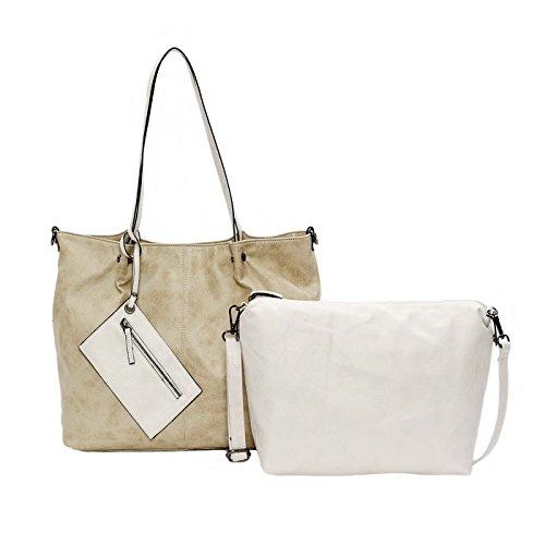 Maestro Surprise 16 Bag in Bag Shopper Tasche 45 cm Sand Ice 1ynzUt