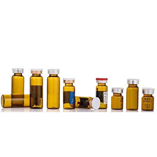 Healthcom 10ml 10 Pack Sterile Empty Vials Amber - Sterile Bottles