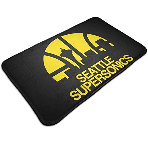 (LPSKF Seattle Supersonics Door Mats, Non Slip Front Entrance Mat Carpet Hall Rugs for Kitchen Bathroom)