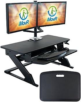 iMovR SDC-ZL-B-VM ZipLift+ Standing Desk Converter