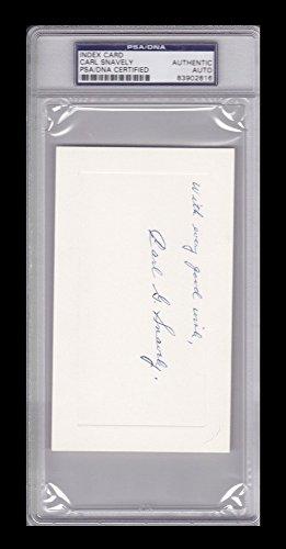 Carl Snavely Signed Autograph 3 X 5 Index Card Auto Unc D 1975 PSA/DNA Certified 83902816 (Index Card Signature Autograph)