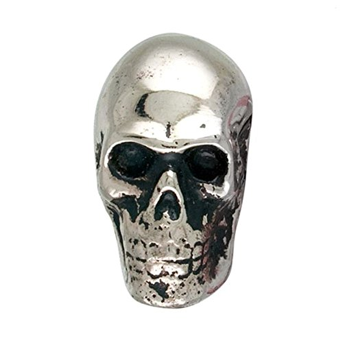 (Metal Skull Silver Chrome Drawer Dresser Cupboard Pull Knob)