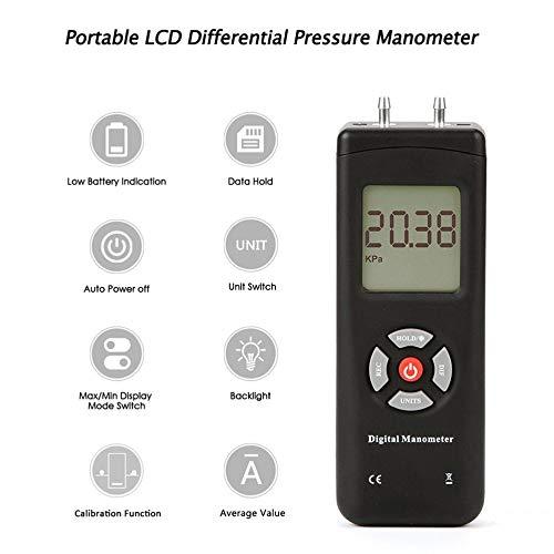 TL-100 Digital Manometer Air Pressure Meter Portable Pressure Gauges Handheld U-type Differential Pressure Meter