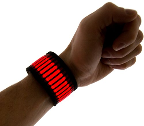 Neon Nightlife LED Slap Band Bracelet/Armband, Striped (Tron Costume Glow Sticks)