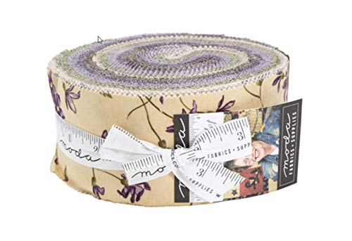 Sweet Violet Jelly Roll 40 2.5-inch Strips by Jan Patek for Moda - Fabric Quilt Violet