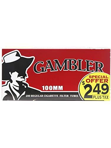 Gambler Regular 100mm (100s) Pre-Priced RYO Cigarette Tubes 200ct Box (5 Boxes) ()
