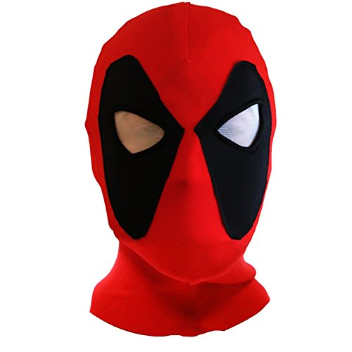 Halloween mask Cosplay Costume Lycra Spandex Mask Red/Black Kids sizes