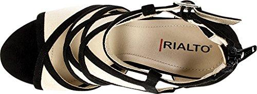 'RIA' Rialto Women's Shoes Suedette Heel Black 55w1qRxa