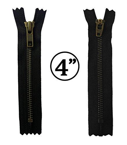 KGS 4 inch Metal Zipper #5 | Antique Color | 5 pcs/pack from KGS