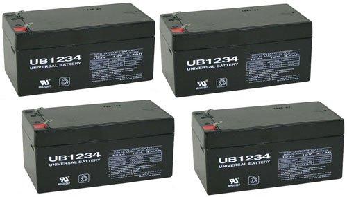 UPG Sealed Lead-Acid Battery - AGM-type, 12V, 3.4 Amps, Model# UB1234 - 4 Pack ()