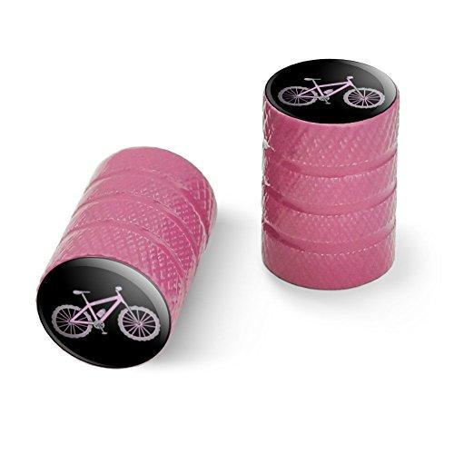 オートバイ自転車バイクタイヤリムホイールアルミバルブステムキャップ - ピンクピンクペダルマウンテンバイク自転車