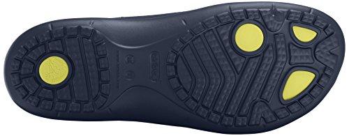 Crocs Modi Sport Flip, Infradito Unisex-Adulto Blu (Navy/Tennis Ball Green)