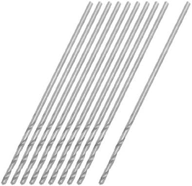 uxcell 0.75mm Dia Micro HSS Straight Shank Twist Drill Bit 10 Pcs
