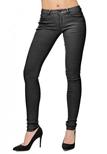Skinny ArizonaShopping Treggings Hosen Hipsters Jeans tubo Donna D1701 Blu tubi grigio EIq7rwxIWn