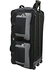 45361 Amaro 36 Inch 1200d Explorer Rolling Duffle Bag (BLACK)