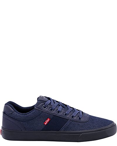 Levis Miles Denim Onyx Sneakers, Marine, 7 Marine
