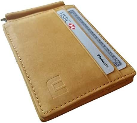 Top Grain Leather Money Clip / Front Pocket Wallet