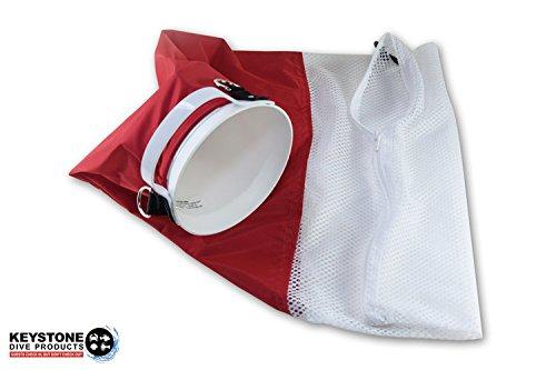 Keystone Dive Products Original Lobster Inn - Mesh Bag or Deluxe Denier Bag (Red & White)