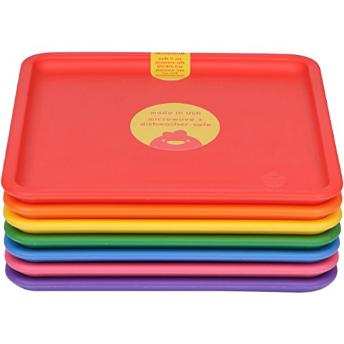 Lollaland Plastic Plates for Kids (7-Count Rainbow Assorted) Made in USA Microwave-/Dishwasher-Safe u2013 Born in the USA  sc 1 st  Born in the USA Baby baby products made in the USA & Lollaland Plastic Plates for Kids (7-Count Rainbow Assorted): Made ...