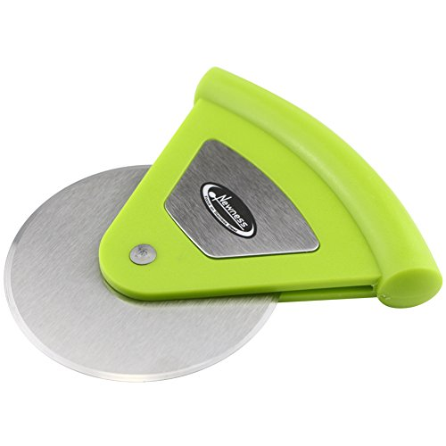 Pizza Cutter, Newness Good Grips Mini Pizza Cutter and Wheel with Plastic Handle, Handheld Pizza Cutter Wheel with Stainless Steel Blade for Home, Pizza Lovers, Light Green (Pizza Spatula Small compare prices)