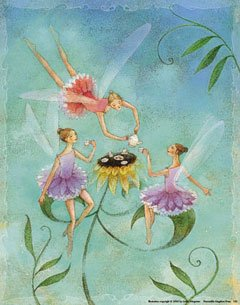 - 123Posters (11 x 14) Fairy Tea Party by Linda Wingerter art print