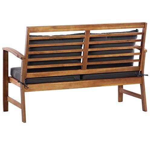 Festnight Outdoor Wood Garden Sofa Set 4 Piece Patio Wood