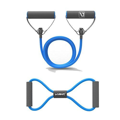 Liveup SPORTS Resistance Bands Set Fitness Tubes/Cord for Indoor Outdoor Sports Home Gym Exercise Travel Workout ()