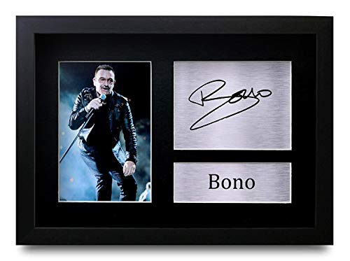HWC Trading FR Bono Gift Signed Framed A4 Printed Autograph for sale  Delivered anywhere in USA