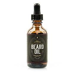 Beard Oil - Nourishing, Organic Plant-Derived Oils For Beard & Mustache Hair Growth - Leave-In Conditioner & Moisturizer - Against Itchy Skin, Beard Dandruff & Acne - Paraben Free & Vegan