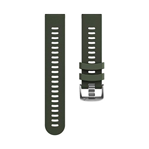 KCPer Silicone Replacement Watch Band - Quick Release Soft Rubber Strap - Waterproof, Textured Tire Pattern for Garmin Forerunner 245/245M/Vivoactive 3/Vivomove HR