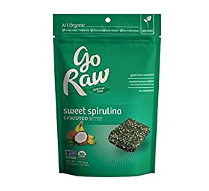 Go Raw Sweet Spirulina Sprouted Bites, 3 oz (Pack of 6)
