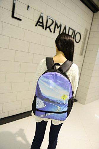 Estrellas del cielo impresi?n mochila hombres y mujeres mochila bolsas secundaria estudiante 2