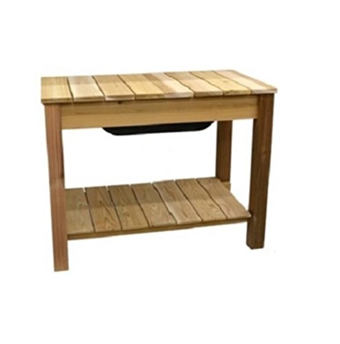 potting bench cedar - 9