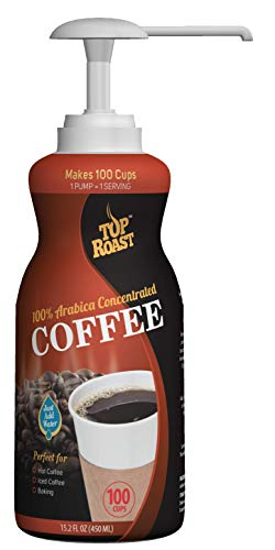 Top Roast Colombian Concentrate | 15.2 Ounce Pump Bottle - Makes 100 Cups