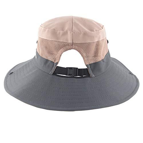 c64e8e9c Women's Summer Sun Hat Outdoor UV Protection Foldable Wide Brim Bucket  Boonie Hats Beach Safari Fishing