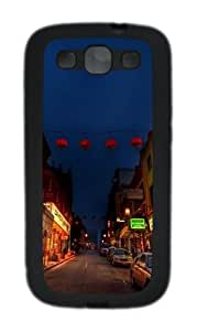China town TPU Case Cover for Samsung Galaxy S3 Case and Cover - Black