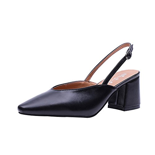 Clearance Sale Shoes For Women,Farjing Fashion Women Pointed Toe Slip-on Hoof Heels Party Leisure Shoes(US:6,Black ) by Farjing