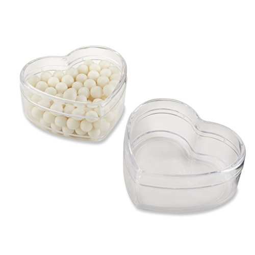 Kate Aspen, Heart Favor Container, Gift Box, Clear Plastic, Set of ()