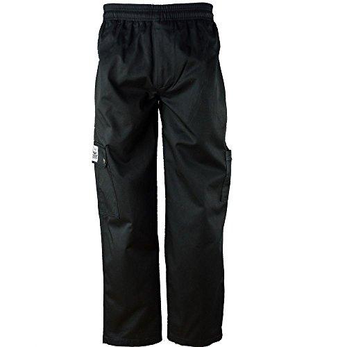 Chef Revival P024BK-2X QC Lite 2XL Black Cargo Pants (Chef Revival Cargo Pants)