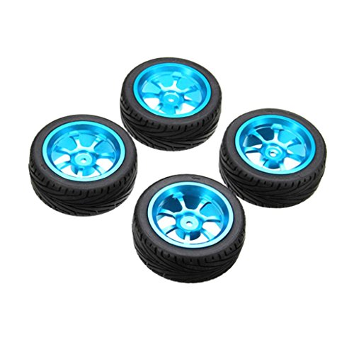 Bettal Alloy Rims & Tires RC Car Wheels for 1/18 WL Toys A959-B A979-B A959 A969, 4 Pcs, Alloy -  Bettal_3T02073