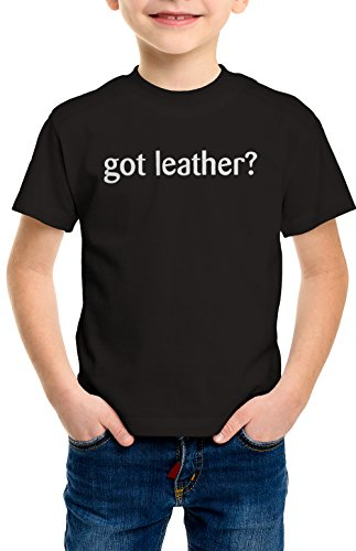 Leather Bke (shirtloco Boys Got Leather Youth T-Shirt, Black Extra Small)