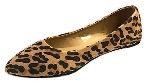 Scarpe8teen Donna Faux Suede Mocassino Smoking Scarpe Flats 3 Colori 8800 Leopard Micro