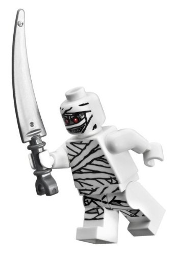 Mummy Monster Fighters - Lego Monster Fighters Minifigure: Glow-in-the-Dark Mummy with Scythe Blade
