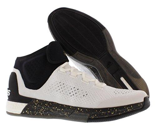 Adidas 2015 Crazylight Stimuler La Taille Primeknit Hommes Basket-ball Soes Blanc / Noir