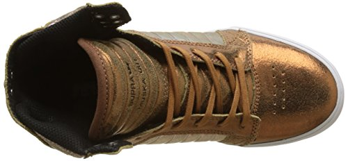 Supra Vrouwen Skytop Sneaker Metallic Tin / Wit