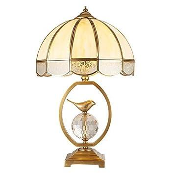 Lampara de mesa Lámpara de mesa de cobre, pájaro pequeño ...