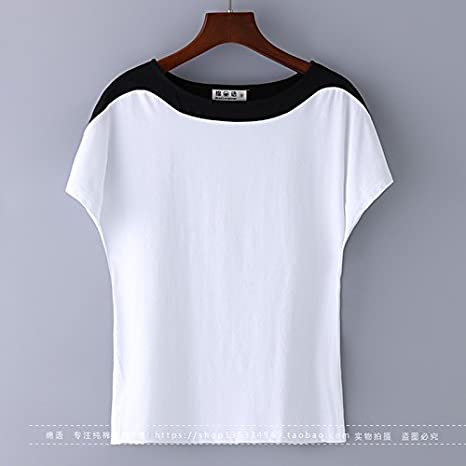 xing xiao Camisetas para Mujer Fat Hermana Grande De Manga Corta T-Shirt Mujer Verano Nuevo Suelto Señoras Silvestres De Algodón Camiseta Negra Fina, XL Grandes, Blancas: Amazon.es: Deportes y aire libre