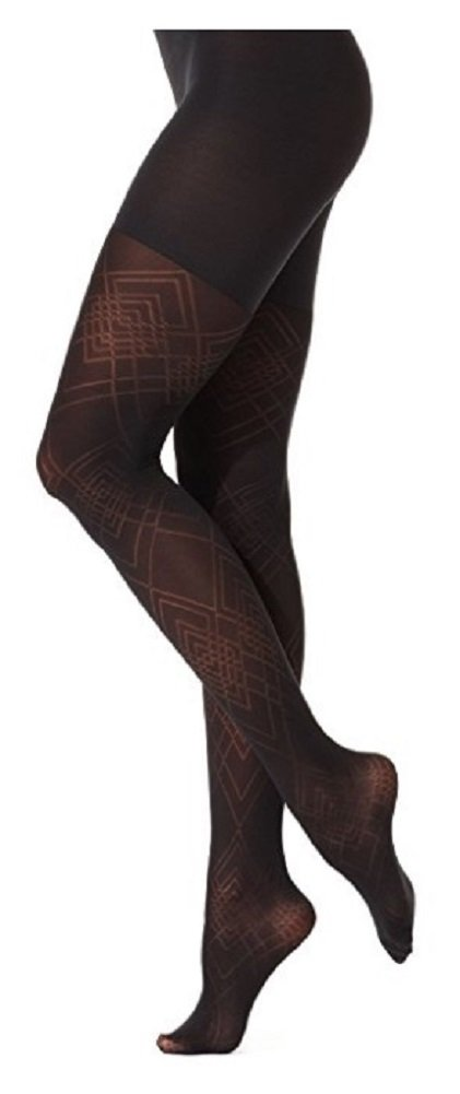 Star Power by Spanx Womens Tights Center Stage Diamond Daze A Black by SPANX
